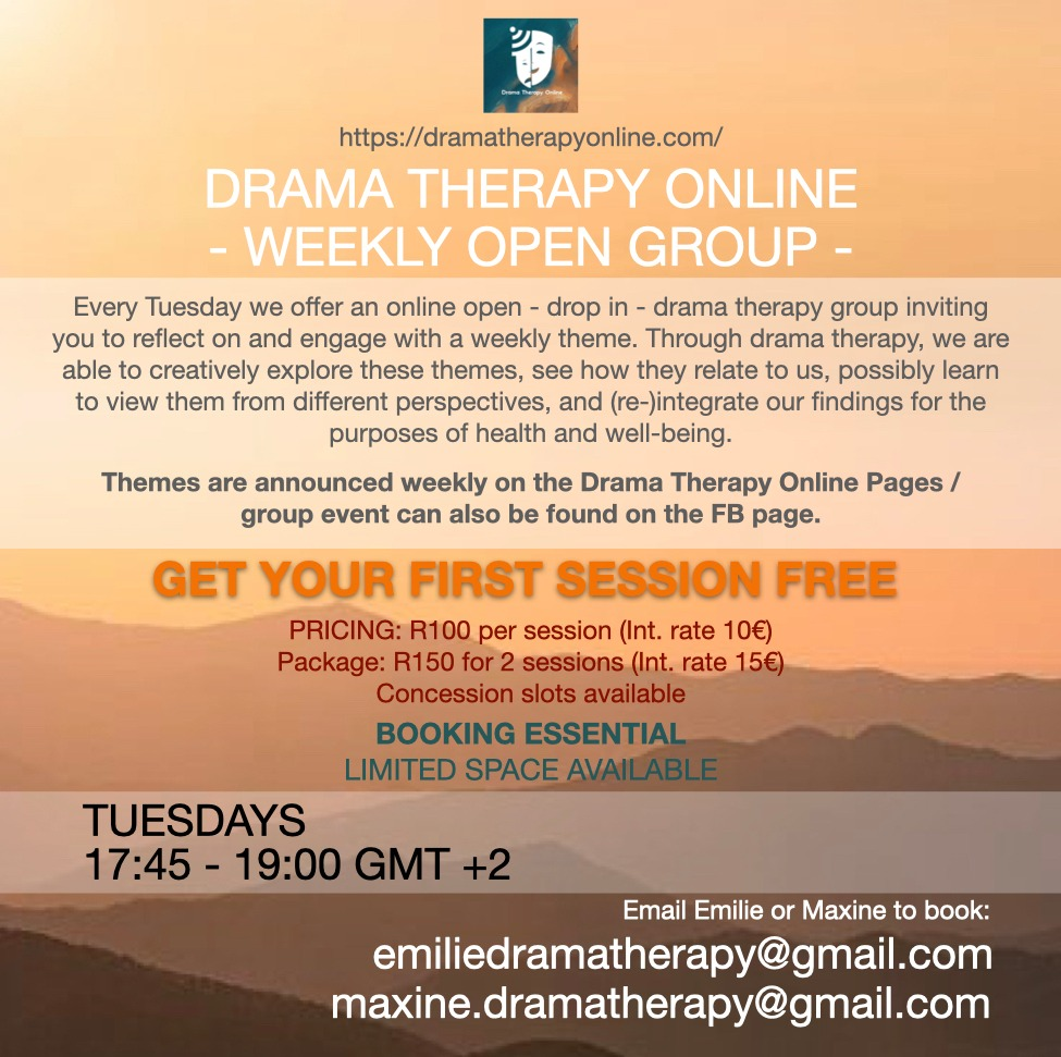weekly drama therapy online open group