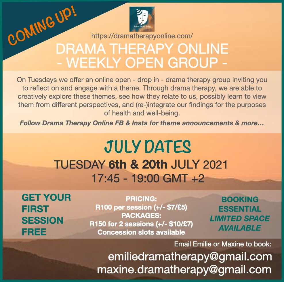 July Drama therapy online open group