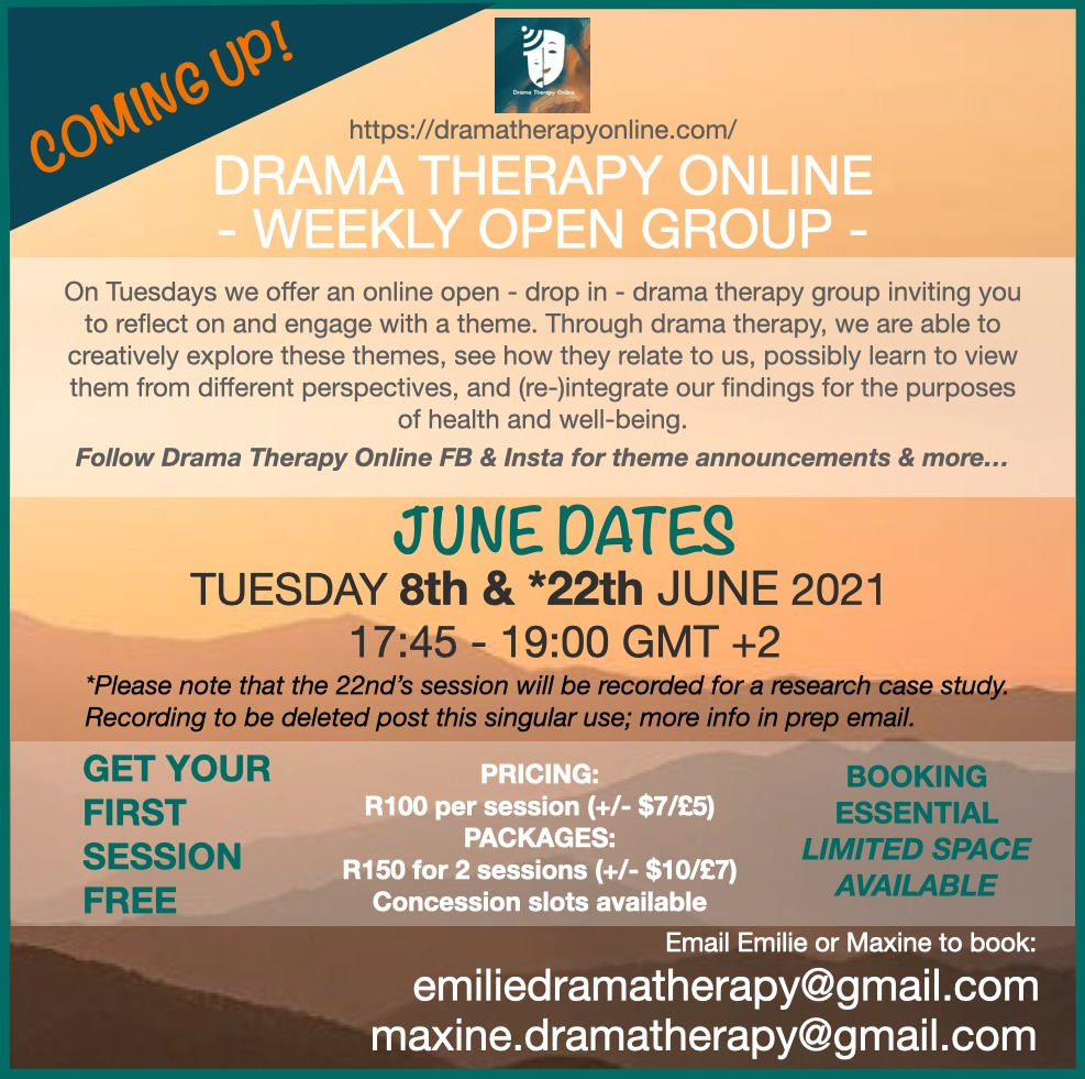 Drama therapy online open group